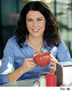 Lorelai Gilmore with coffee