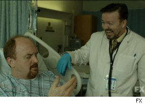 Louis C.K. and Ricky Gervais in 'Louie' on FX