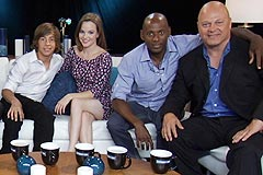 Ouside the Box Interview w/ No Ordinary Family co-stars Michael Chiklis, Julie Benz, Romany Malco, Autumn Reeser, Kay Panabaker, Jimmy Bennett and Stephen Collins