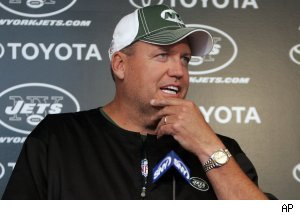 Rex Ryan, head coach of the New York Jets