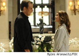 Keri Russell and Will Arnett in the pilot for 'Running Wilde' on FOX