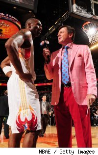 Craig Sager with Kobe Bryant at the 2009 NBA All-Star Game