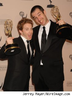 Seth Green and Matthew Senreich at the 2010 Creative Arts Emmys