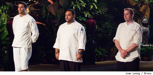 Angelo Sosa, Kevin Sbarga and Ed Cotton: the final 3 contestants on 'Top Chef' Season 7