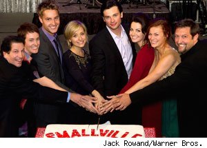 The cast and producers of Smallville
