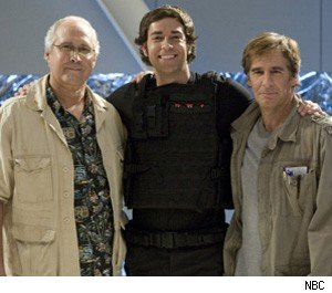 Chevy Chase Zachary Levi and Scott Bakula