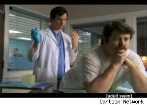 Dr. Maestro Gives Prostate Exam on 'Childrens Hospital'