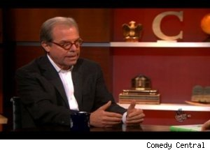 Nicholas Negroponte Shows XO Laptop on 'Colbert Report'