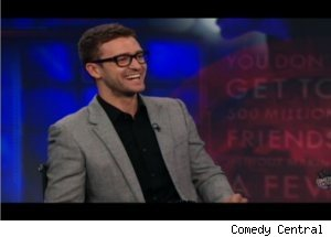 Justin Timberlake Talks Facebook on 'The Daily Show'