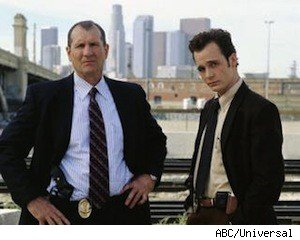 Ed O'Neill and Ethan Embrey on 'Dragnet'
