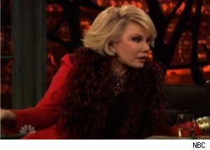 Joan Rivers Talks Betty White, Angelina on 'Late Night'