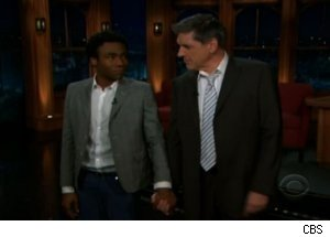 Donald Glover Holds Ferguson's Hand on 'Late Late'