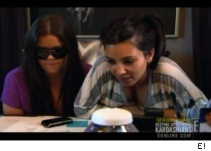 Kim and Khloe Talk to Reggie Bush on 'Kardashians'