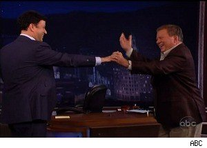 William Shatner Isn't Into 'DWTS' -- But He'll Do a Man-Dance With Jimmy Kimmel