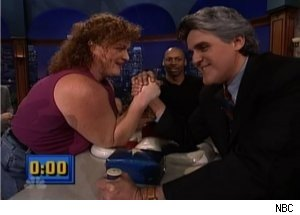 Dot-Marie Jones Arm Wrestled Jay Leno on 'Tonight Show'