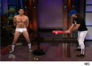 'Jackass' Steve-O Endures Stunt on 'Tonight Show'
