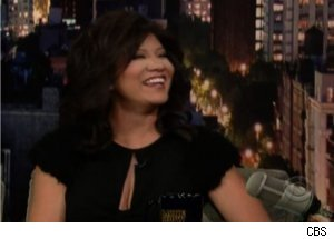 Julie Chen Talks 'The Talk' on 'Late Show'