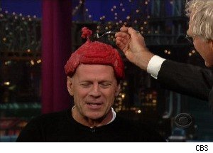 Bruce Willis Shows Off HIs Lady Gaga-Inspired 'Meat Hairpiece'