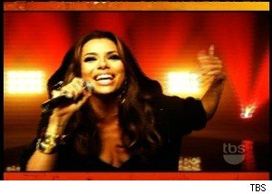 Eva Longoria Shares Her Rapping 'Skillz' on 'Lopez Tonight'