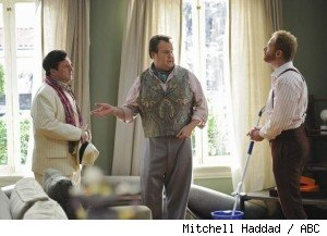 Nathan Lane, Eric Stonestreet, and Jesse Tyler Ferguson in 'Modern Family' - 'Earthquake'