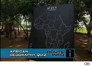 Uh-oh, a geography quiz on 'The Amazing Race'