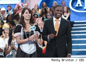 Wayne Brady with a contestant on 'Let's Make a Deal' on CBS