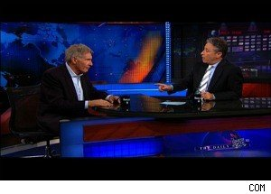 Jon Stewart Interviews Harrison Ford -- But Didn't Bother to See His Film