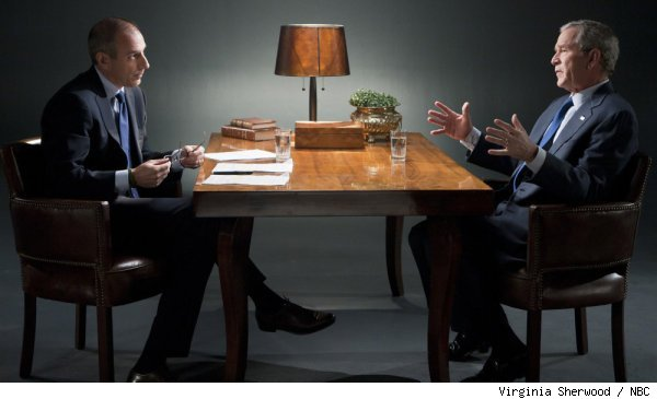 Matt Lauer talks to George W. Bush in 'Decision Points' Monday 11/8 at 8PM on NBC