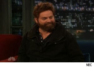 Zach Galifianakis Reveals Wig on 'Late Night'
