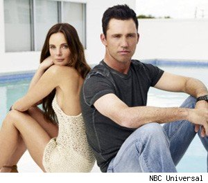 Gabrielle Anwar and Jeffrey Donovan