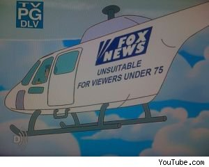 'The Simpsons' Fiox News Helicopter Parody