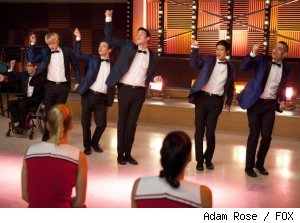 The boys sing to Coach Beiste on 'Glee' - 'Never Been Kissed' on FOX