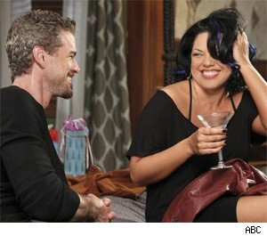 Mark talks to a drunk Callie with a new haircut.