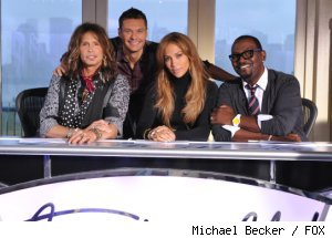 The season 10 cast of 'American Idol': Steven Tyler, Ryan Seacrest, Jennifer Lopez and Randy Jackson