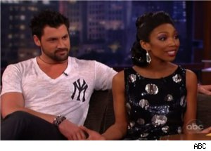 Brandy and Maks Talk 'DWTS' on 'Kimmel Live'