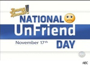 Jimmy Kimmel Champions National UnFriend Day on November 17th