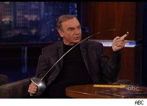 Neil Diamond Attacks Jimmy Kimmel With a Sword