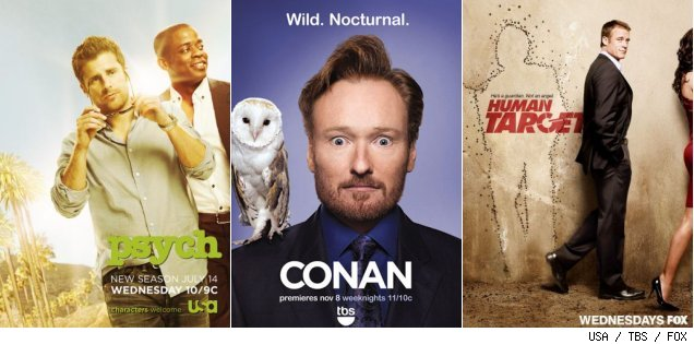 'Psych' / 'Conan' / 'Human Target'