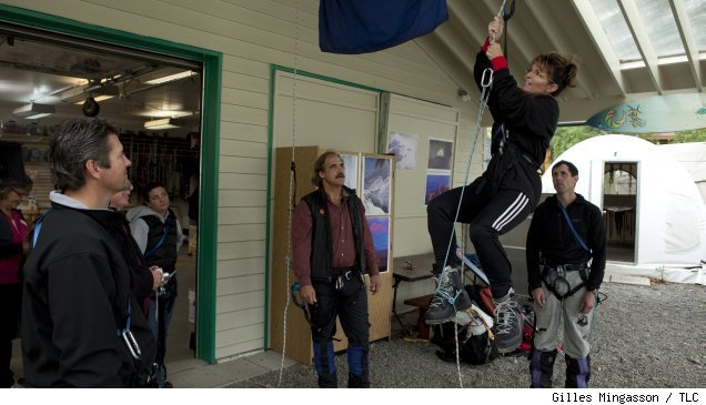 Sarah Palin learns to rope climb in 'Sarah Palin's Alaska' on TLC
