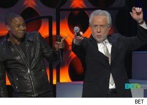 Wolf Blitzer, Doug E. Fresh Dance on 'Soul Train Awards'