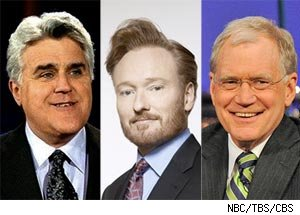 Jay Leno, Conan O'Brien, David Letterman