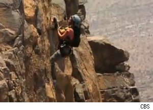 Rappelling into the