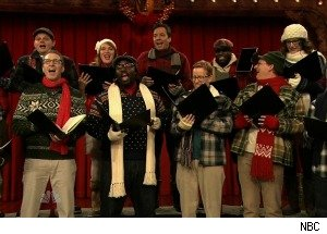 Jimmy Fallon Sings an Xmas Song -- Featuring Sarah Palin, the iPad, and the BP Oil Spill