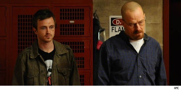 Aaron Paul and Bryan Cranston of 'Breaking Bad'