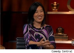Michelle Rhee Talks Jobs on 'Colbert Report'