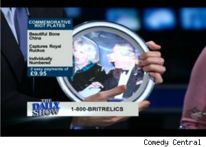 John Oliver Offers Souvenir Riot Plates on 'Daily'