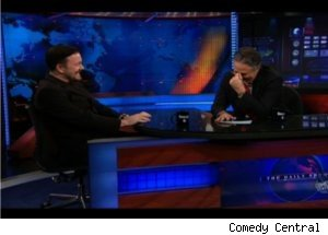 Ricky Gervais Cracks Jokes on 'Daily Show'