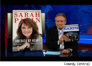 'Daily Show' Promotes 'Earth' Using Palin's Book