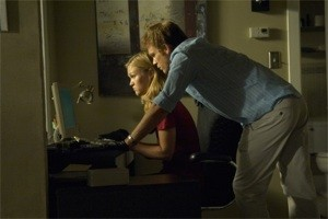 Julia Stile and Michael C. Hall in Dexter