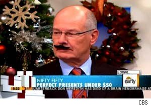 Harry Smith rocks a mustache on the CBS 'Early Show'